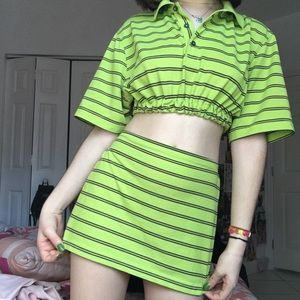 IZOD SLIME GREEN REWORKED TWO PIECE SET